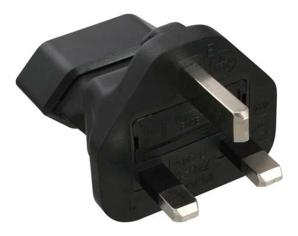 InLine Adapter Eurostecker Typ C auf Typ G (UK,