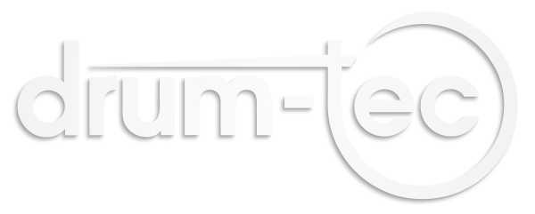 Sticker drum-tec Logo, weiß